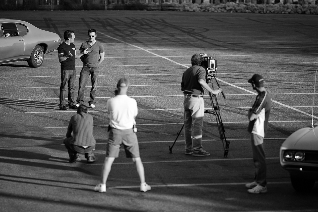Rick Mercer, Allan Hawco & Crew filming a Segment for the RMR shot by //d. For A City Like Ours