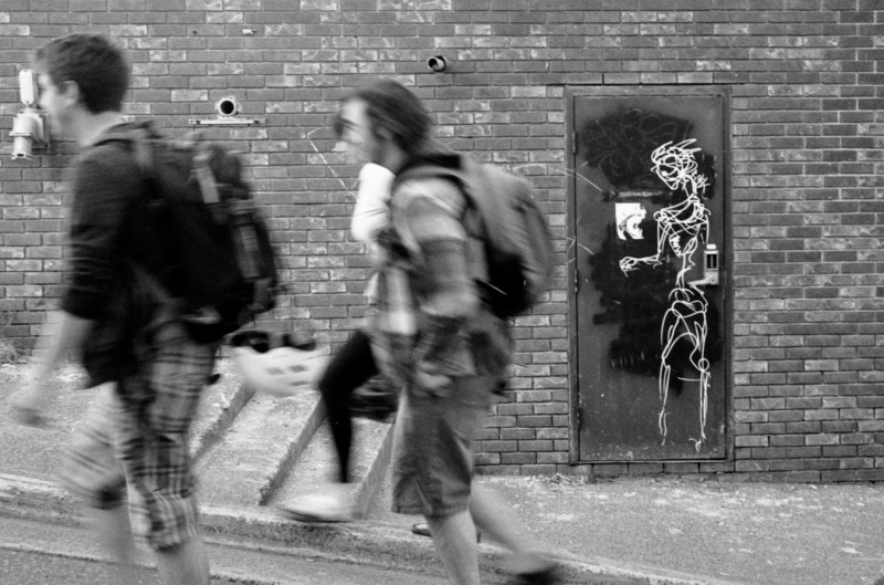 Door Graffiti haunting.