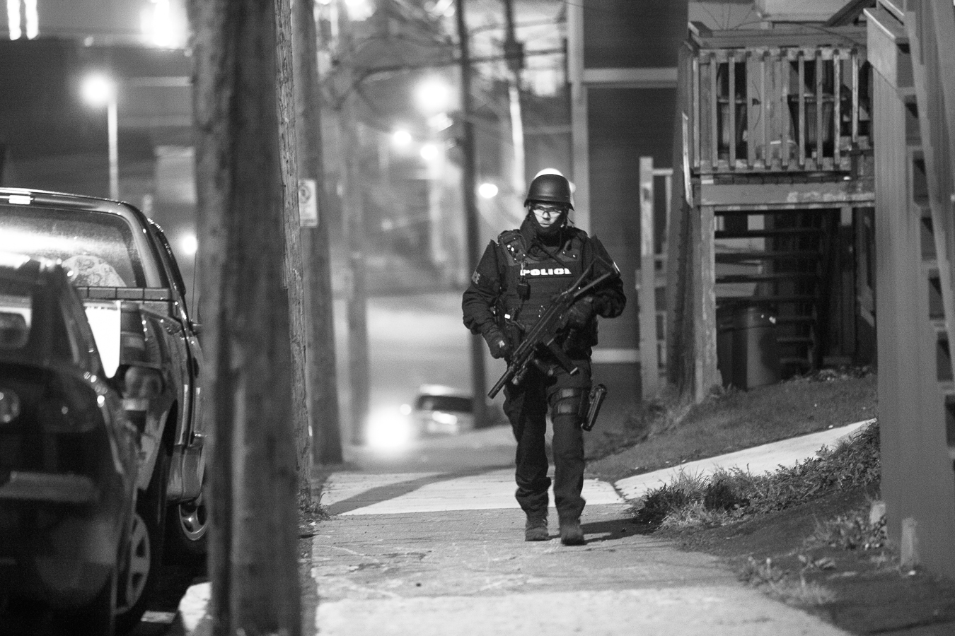 The scene of an armed standoff in the early morning hours of May12, 2013 - Springdale Street