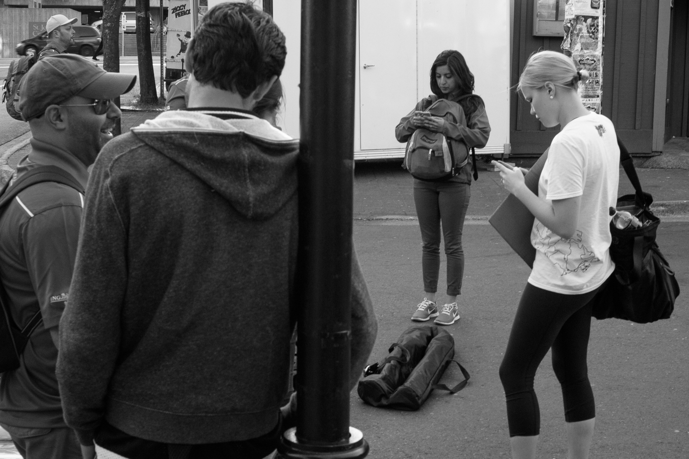 open air texting - George street at Adelaide