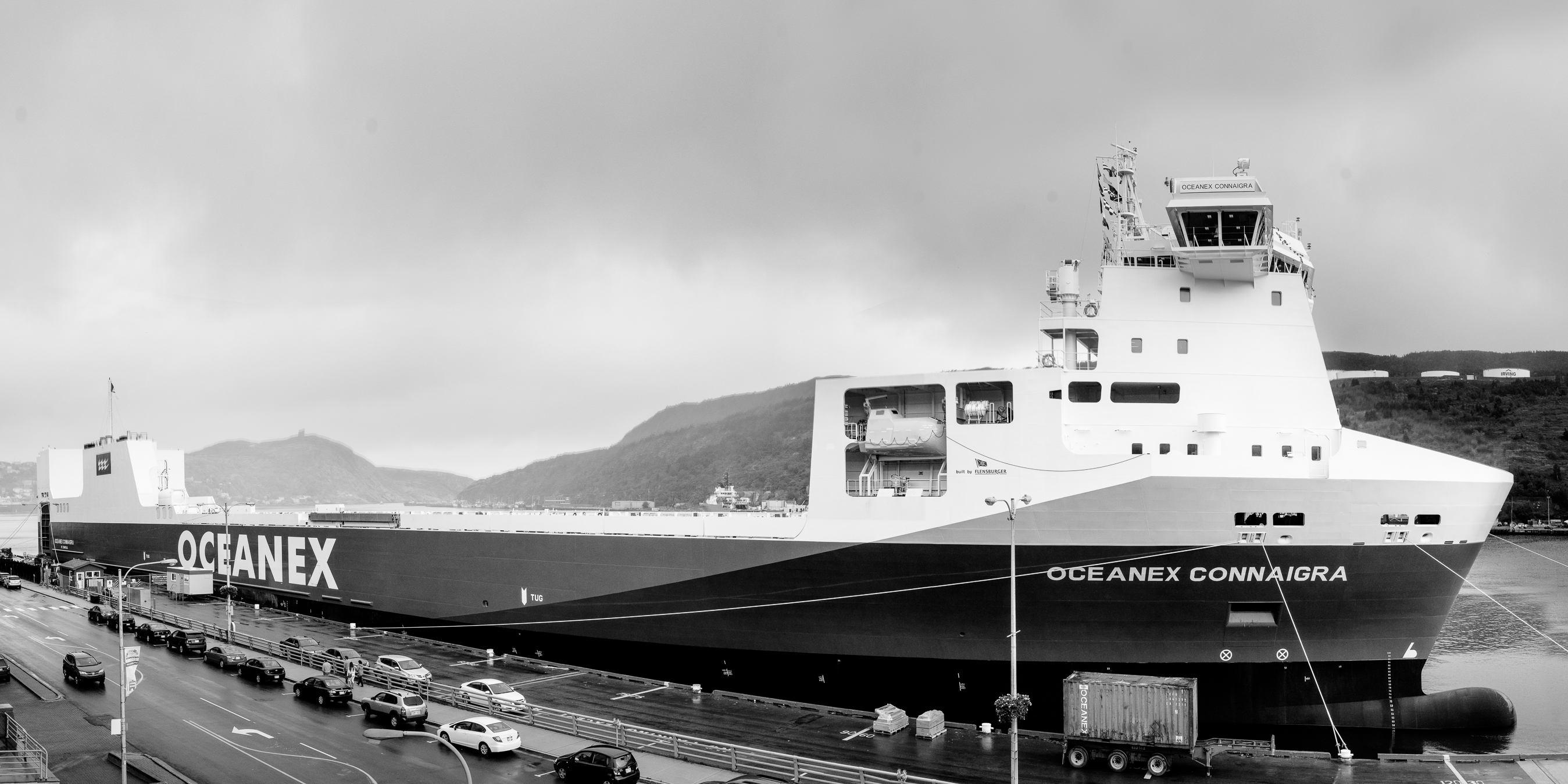 The Oceanex Connaigra -  Canada's Largest containership in our fair port  - Waterfront