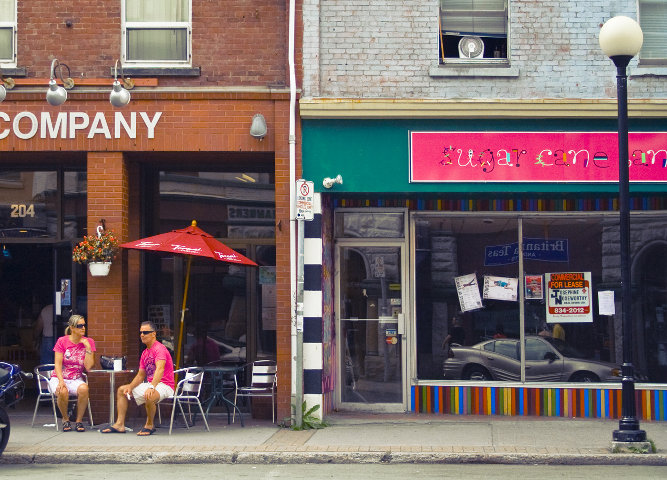 Hot pink on a summer day -  Sugar Cane Lane - Coffee & Company - Water Street