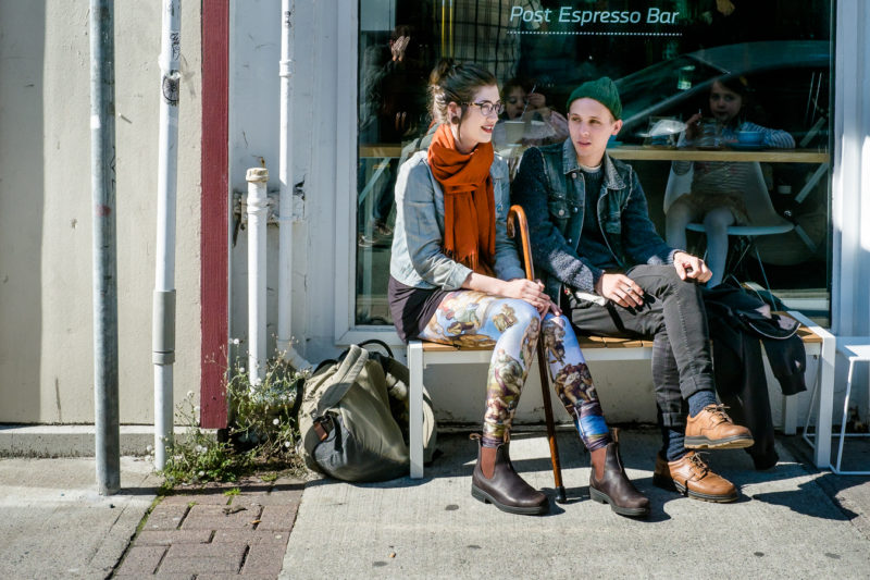 Young Couple Enjoying the sun - Last day at Post Espresso - Sept 2013