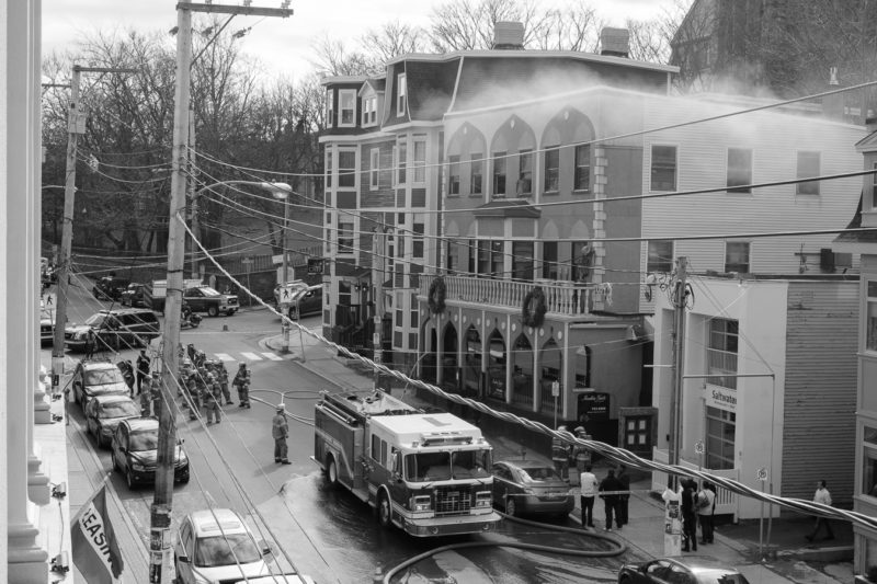 There was a fire in the India Gate Restaurant building over this past weekend - Duckworth Street