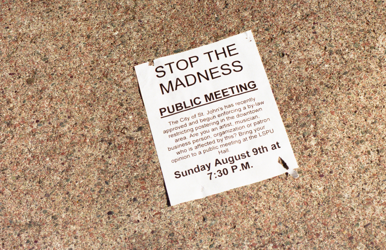 A Poster for all posters - Before people taped their posters to the metal pole wrappings we stapled - 1998 - Water Street